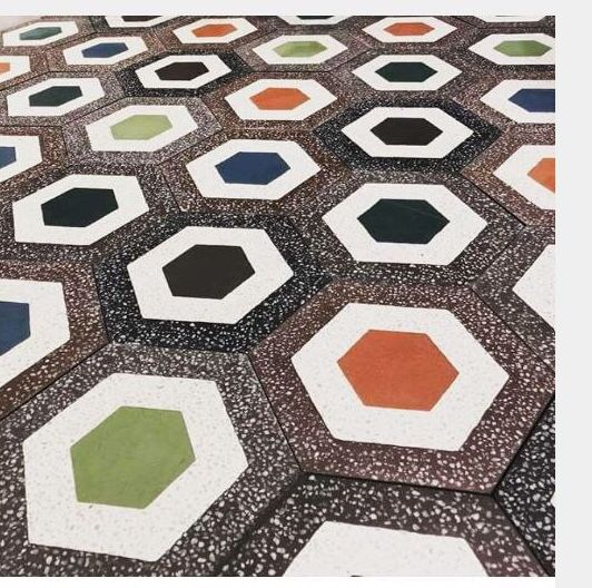 How to make terrazzo cement tile