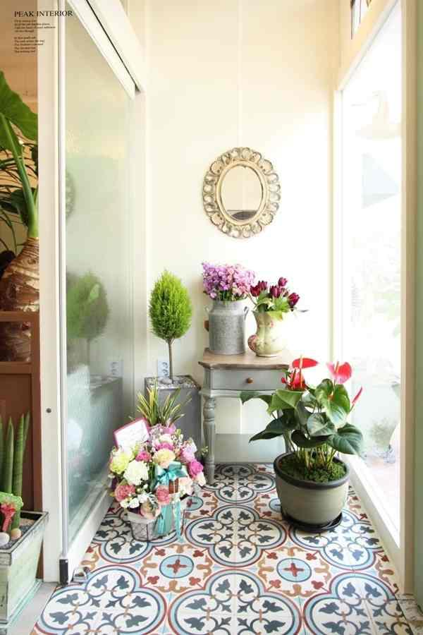 Encaustic cement tile: Vintage Aesthetic In Modern Living Space