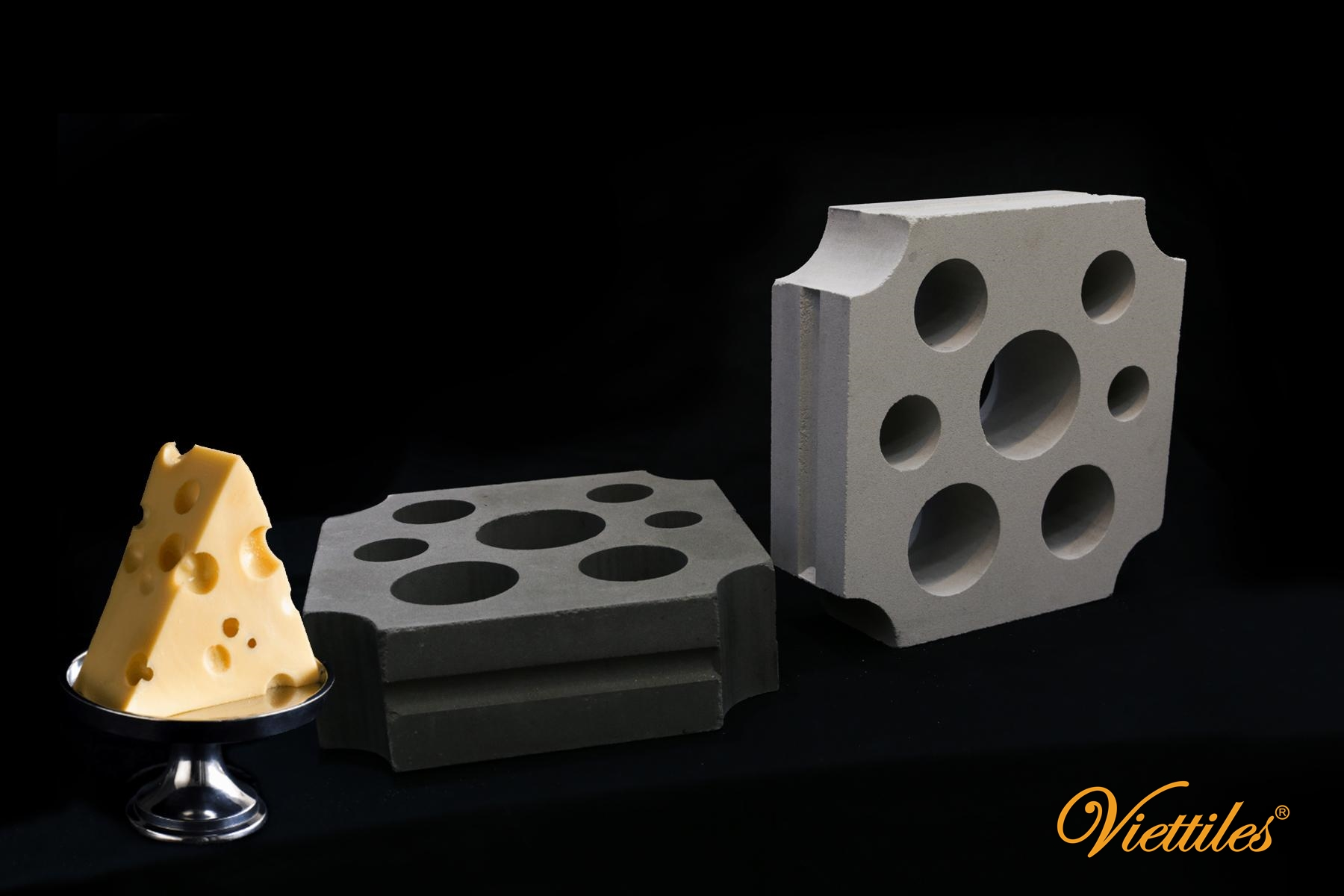 Cheese - The Latest Pattern Of Breeze Block From Viettiles