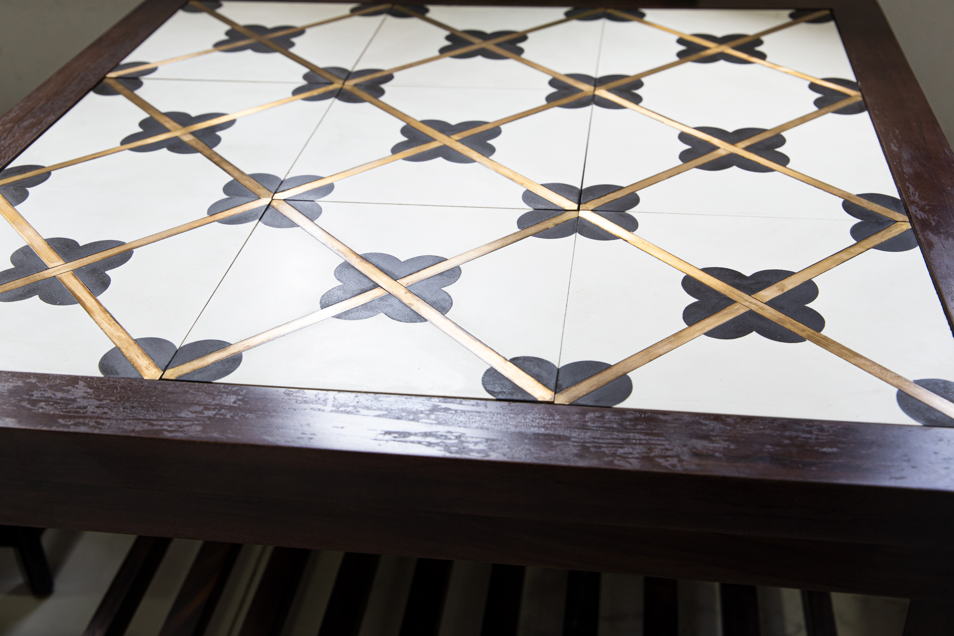 BRASS INLAY CEMENT TILE – THE LATEST TILE COLLECTION