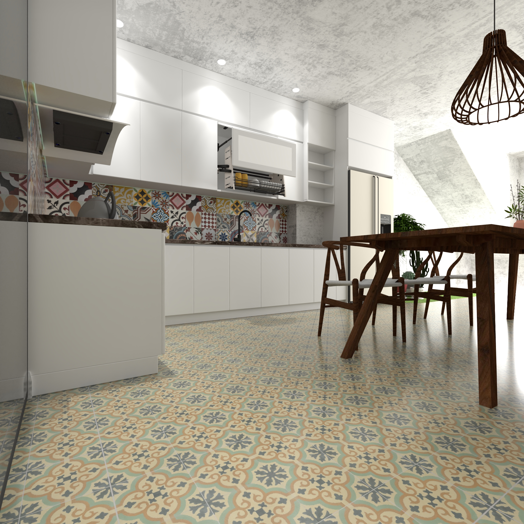 Ancient encaustic cement tile - a creative material that blends space, time, classical and modernity
