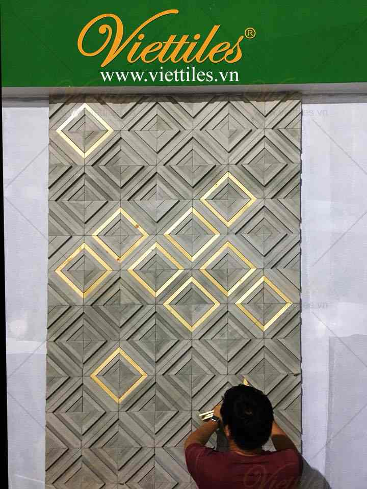 New Design of 3D Texture Cement Tile