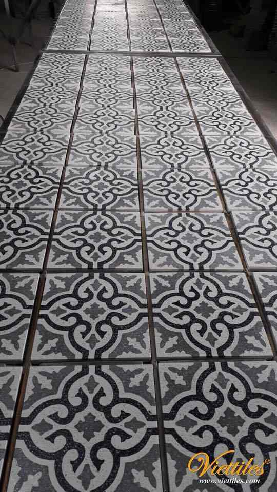 A DESIGN OF CEMENT TILES WITH NEUTRAL COLORS