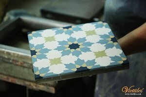 MAKING EACH PIECE OF CEMENT TILES WITH ALL PASSION AND LOVE