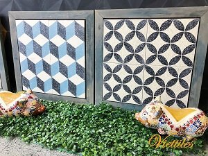 The beautifull terrazzo cement tile