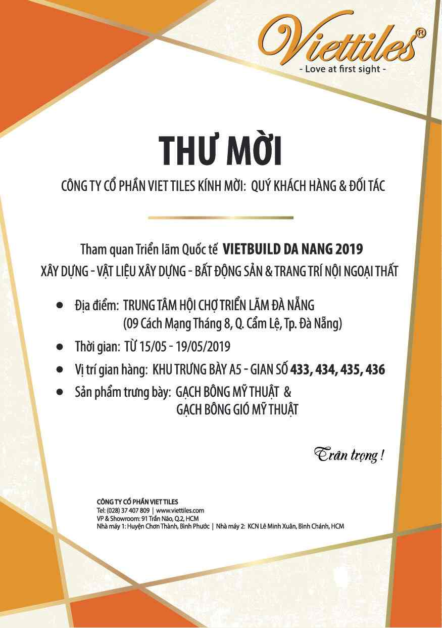 Vietbuild Da Nang International Exhibition 2019's Invitation Letter