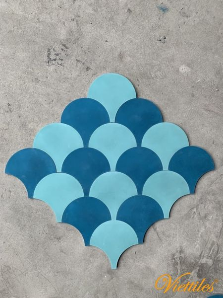 Accent for your space with fishscale Tile
