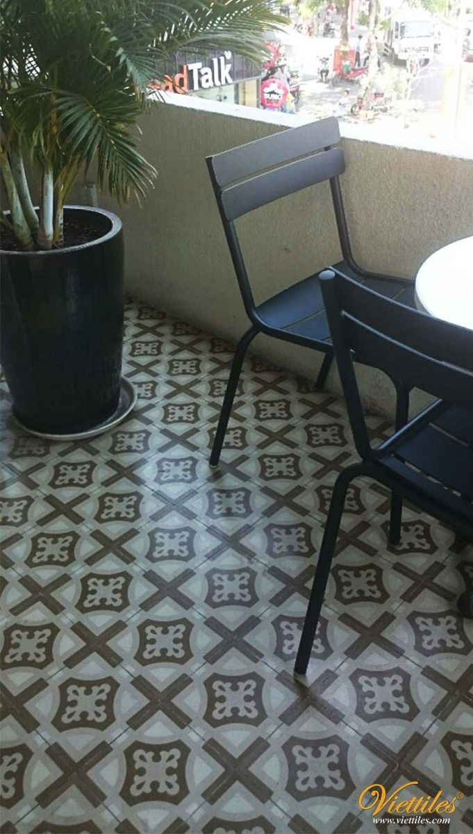 starbucks cement tile handmade by Viettiles