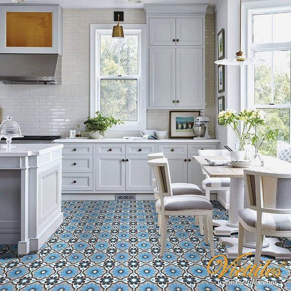 Selecting Spring cotton tiles brings coolness to the whole space