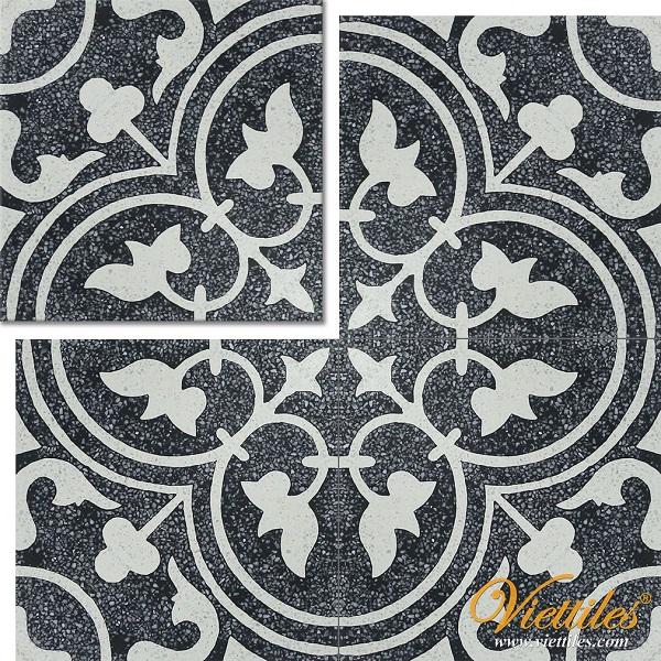 TULIP STONE cotton tiles - classic tulip pattern tiles
