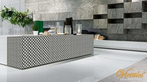 Những mẫu thiết kế bếp với gạch ốp tường bếp đẹp