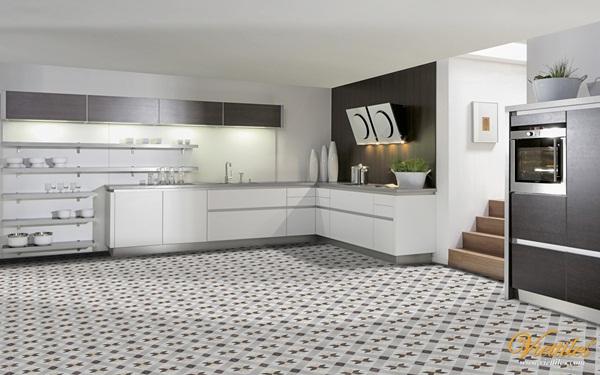 Mẫu gạch bông hiện đại tạo nên sự sang trọng, tinh tế cho căn nhà