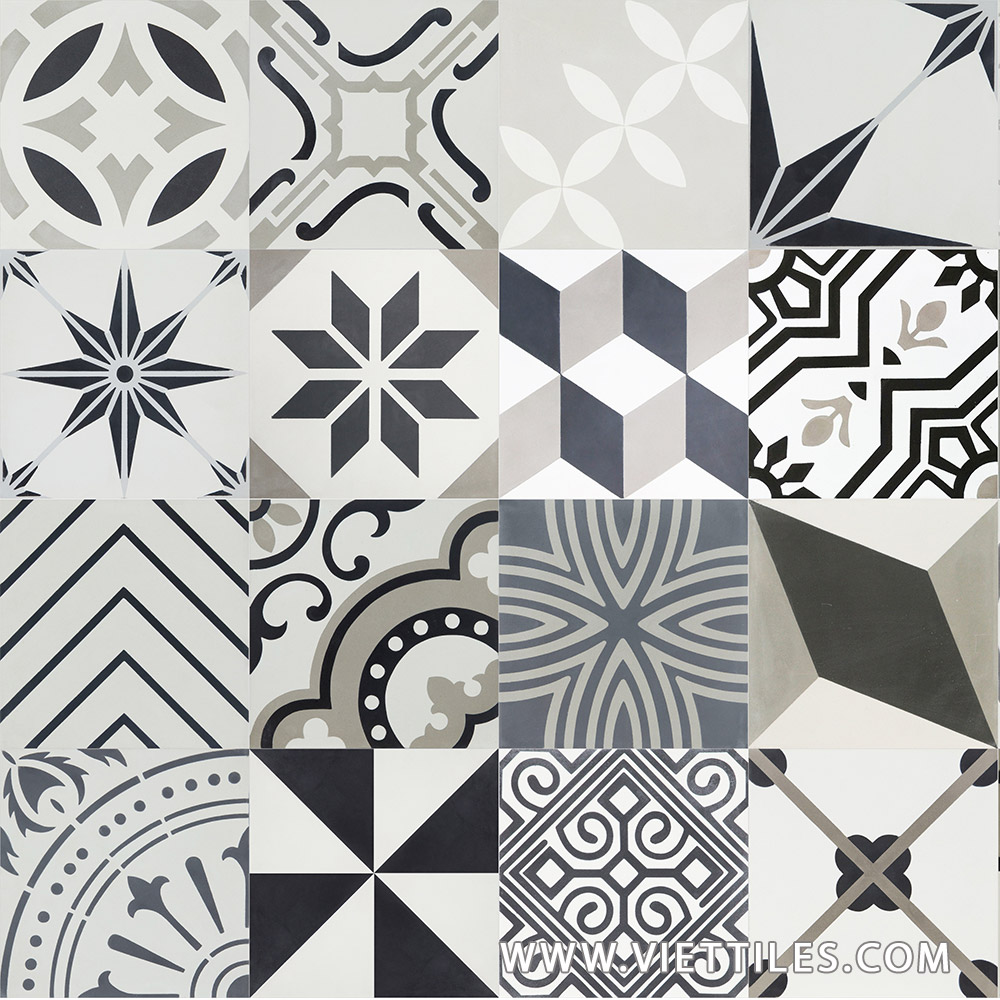 PatchWork Grey Cement tile