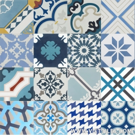 PatchWork Ocean Cement tile