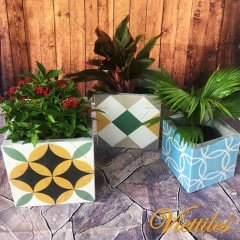 Cement Flower Pot 15x15